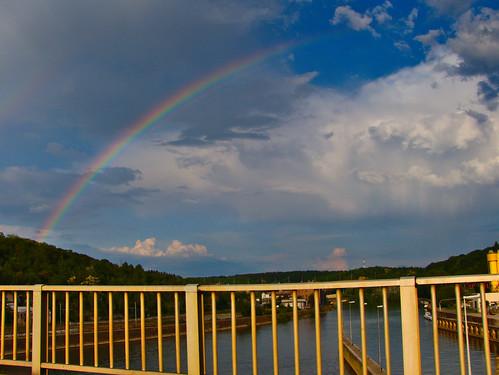 Rainbow on the River Meuse