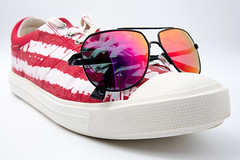 Shoes with sunglasses
