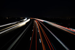 Highway by night - Photo of Teyran