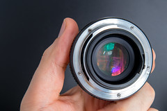 Rear view of an Auto Chinon Multi-Coated 50mm F1.7
