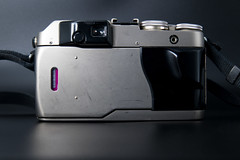 Rear view of a Contax G1 and Carl Zeiss Planar 2/45 T*