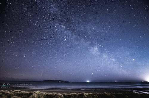 Milky Way Over Lambay Island Dublin Ireland