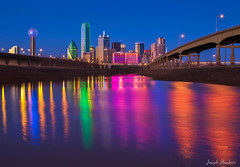 Dallas Skyline colorful reflection