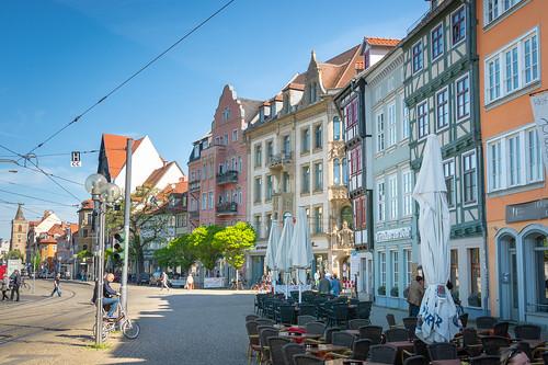 Sunshine in the city ... seen in Erfurt, Germany