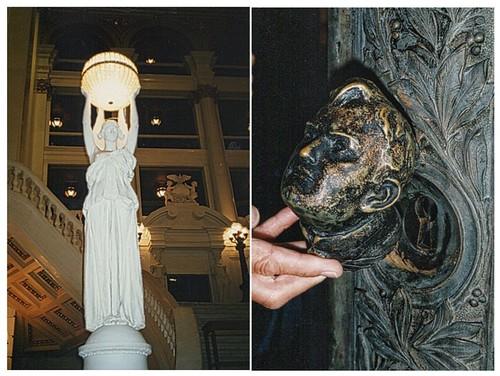 Harrisburg Pennsylvania - State Capitol - Newel Light Fixture  - Bronze Door Knocker