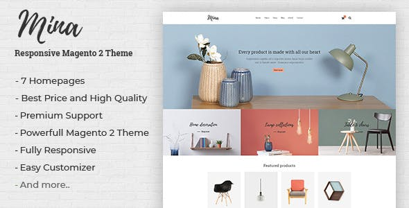 Mina v1.0 - Responsive Furniture, Handmade Shop Magento 2 Theme