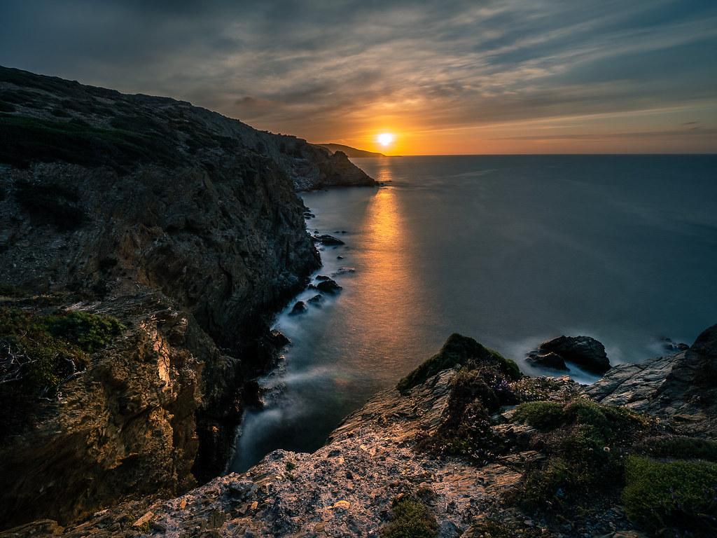 Sunset in Mononaftis, Crete, Greece picture