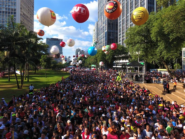 Grandes manifestações de 15 e 30 de maio em defesa da educação foram esquenta para Greve Geral contra a reforma da Previdência - Créditos: Foto: Rodrigo Pilha