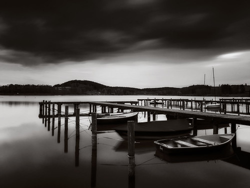 Wednesday, 6 p.m. at the lake (B/W)