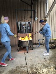 5/10/19 Intro to Ceramics Raku Firing