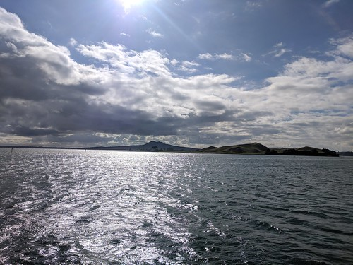 Mid afternoon view of Rangitoto (on the ferry from Half Moon Bay