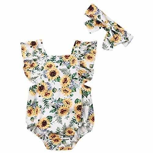 Newborn Kids Baby Girls Clothes Floral Jumpsuit Romper Playsuit + Headband Outfits #babylonberlin #babyshark #babylon #babydriver #babynetflix #babytaube #babymetal #babydaddy #babysussex #babyone