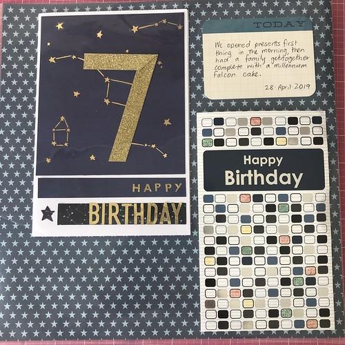 Edward's 7th Birthday cards