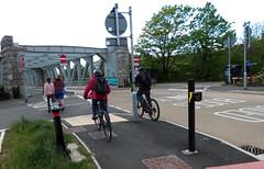 Cycling and Walking by Ashton Avenue Bridge