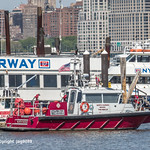 `Firestorm 36` North Hudson Regional Fire Rescue Boat on the Hudson River, Weehawken NJ