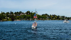 A MOST PATRIOTIC SAILBOAT IN UNION BAY