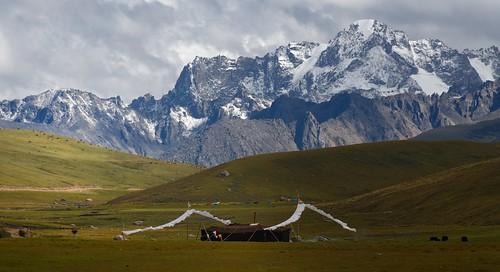 The distinguish Nomad black yak-hair tent, Tibet 2018