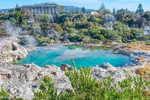 Te Puia - Parque com fontes geotermais e gêiseres. Rotorua/Nova Zelândia.