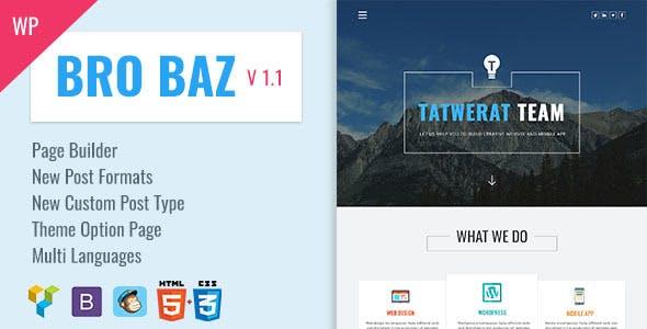 BroBaz v1.1 - Corporate & Blog WordPress Theme