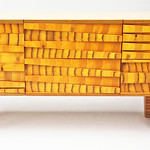 Anne Bossert; Marigold Credenza; Dyed and undyed maple plywood; 2017 - Blurring the Line: Form, Function, & Design at the Arvada Center June 6 - August 25, 2019