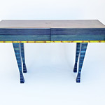 Anne Bossert; Bluebie Table; Dyed maple plywood; 2018 - Blurring the Line: Form, Function, & Design at the Arvada Center June 6 - August 25, 2019