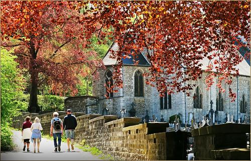 A Dieupart (église et cimetière), Aywaille, Province de Liège, Belgium
