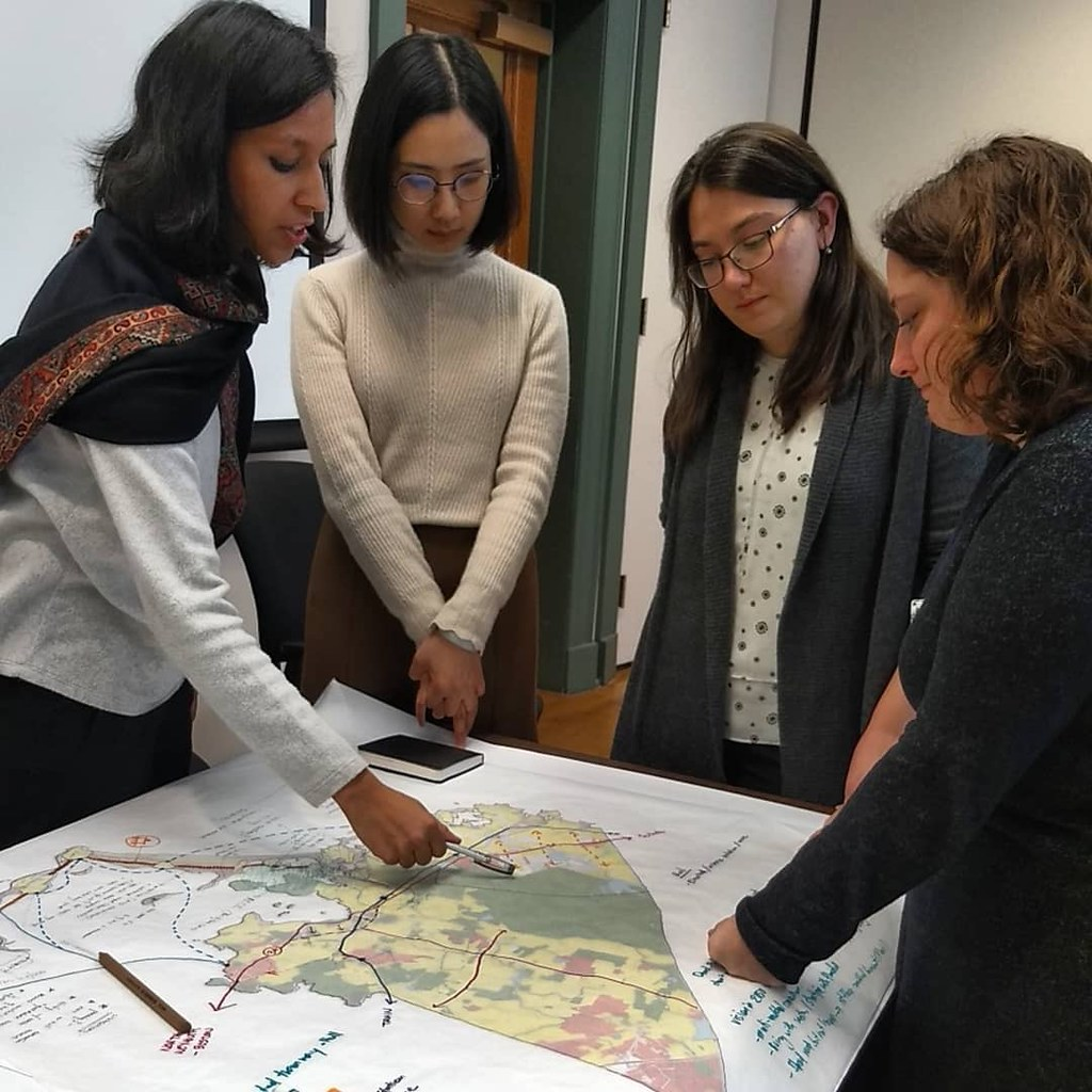 Cornell B.S. URS, M.R.P., and M.P.A. students met with  elected officials and planners in Boston on a class trip led by Assistant Professor Linda Shi.   photo / Linda Shi