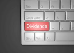 Dividende-auf-Tastatur
