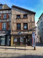 Fachwerkhäuser in Châlons-en-Champagne, Champagne, Frankreich