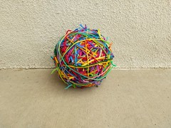 The ever growing scrap yarn ball