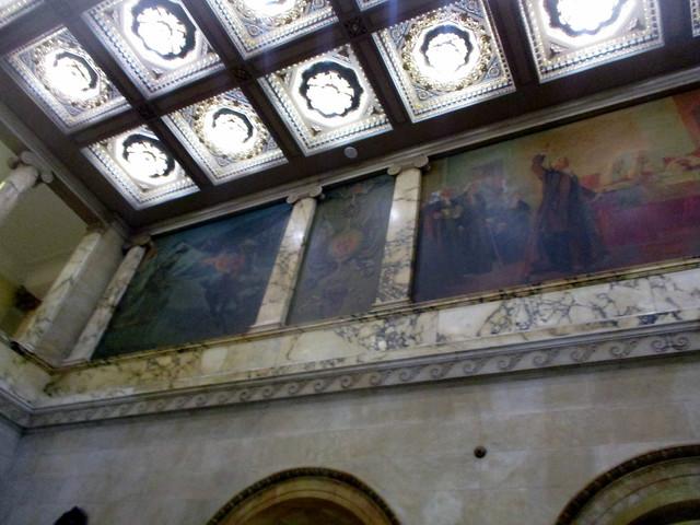 Mural of Paul Revere's Ride in Nurses Hall