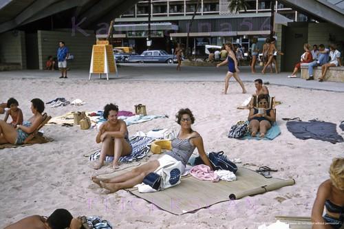 Waikiki Beach Center Girls 1961