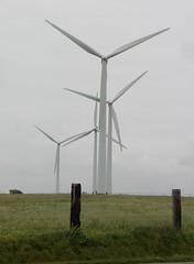 Fécamp - Les  éoliennes du Cap Fagnet