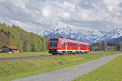 BR 612 649 Train RE 3395 Oberstdorf-Augsburg Hbf à Altstädten