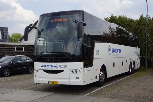 Van Hool EX17H / 2018-NG 91X3L DAF A357873 Van Kooten Reizen met kenteken 22-BND-3 in Kootwijkerbroek 18-05-2019