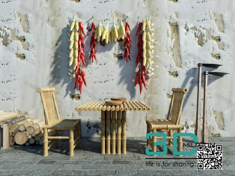 Collections table and chair 3D66 part 2 4
