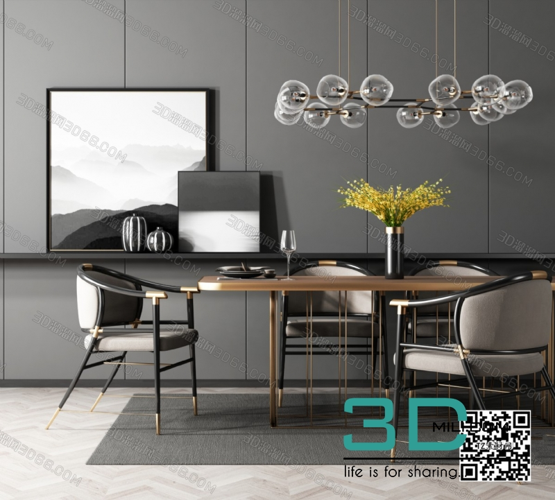 Collections table and chair 3D66 part 2 34