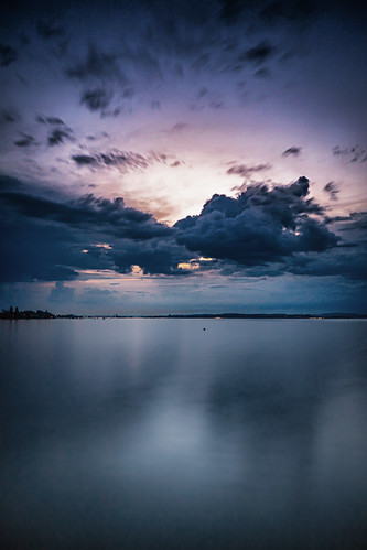 Blue hour at Lake Constance (Bodensee)