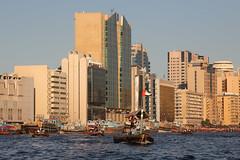 Taxi boats on the Dubai Creek