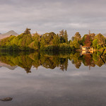 An April morning, Derwent Water by Iain Houston