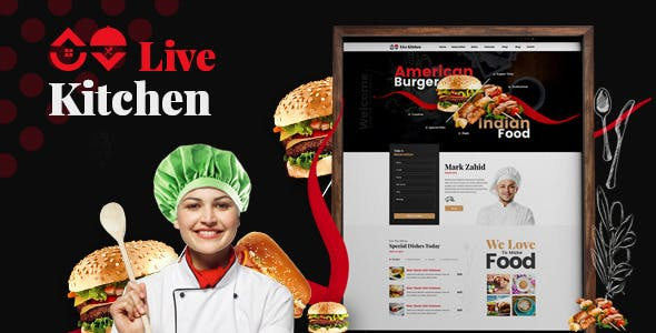 Livekitchen v2.0 - Restaurant Cafe WordPress Theme