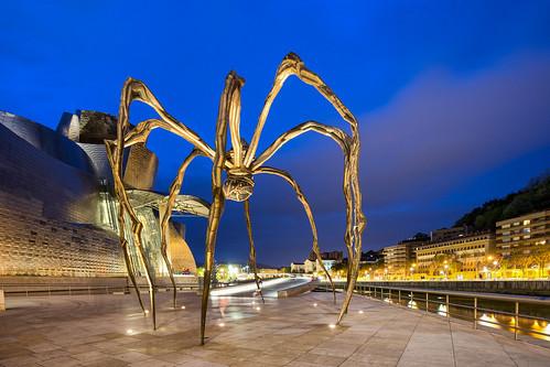 Giant Spider Art at the Guggenheim Bilbao Spain 2019
