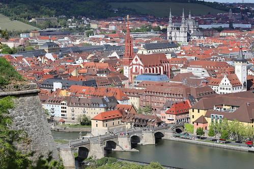Blick von der Festung Marienberg - Würzburg (01)