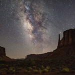 1st - PDI Knock-out . Milky Way Over Monument Valley by Steve Baldwin