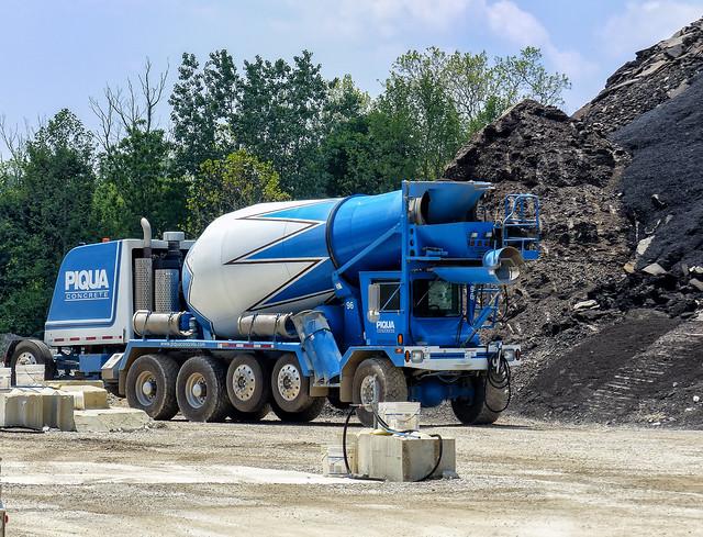 Piqua Concrete's Front Discharge Concrete Truck