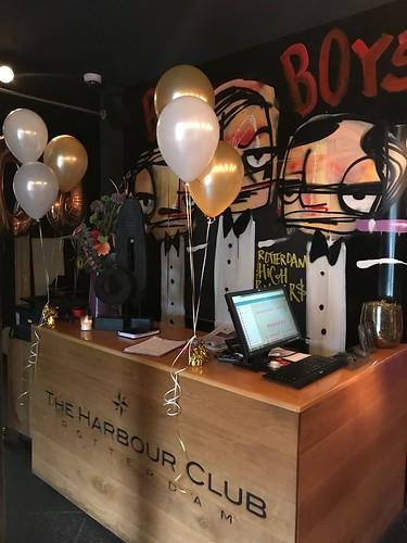 Tafeldecoratie 3ballonnen The Harbourclub Rotterdam