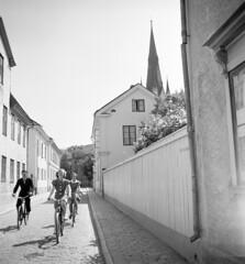 Bikers in Linköping, Östergötland, Sweden