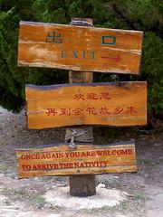 Chinese Sign / Chinglish