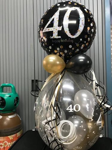 Kadoballon Verjaardag 40 Jaar met Ballon bovenop