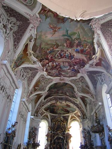 20110913 28 129 Jakobus Stams Kirche Deckengemälde  Bild